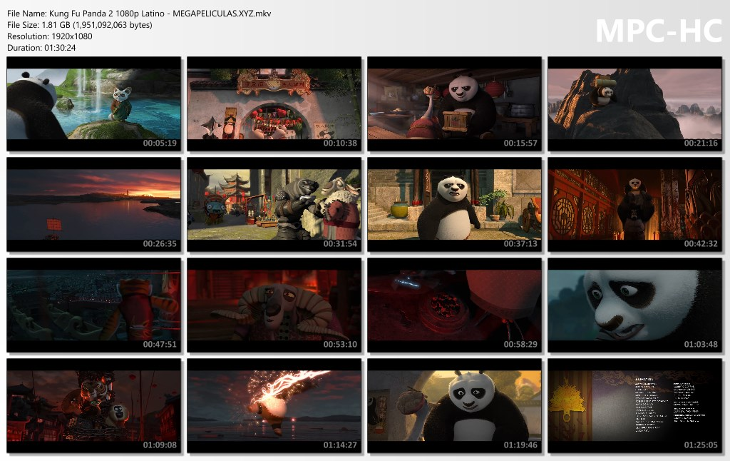capturas pelicula Kung Fu Panda 2 latino