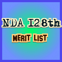 NDA-128th Merit List