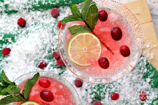 Cranberry Ginger Gin Fizz