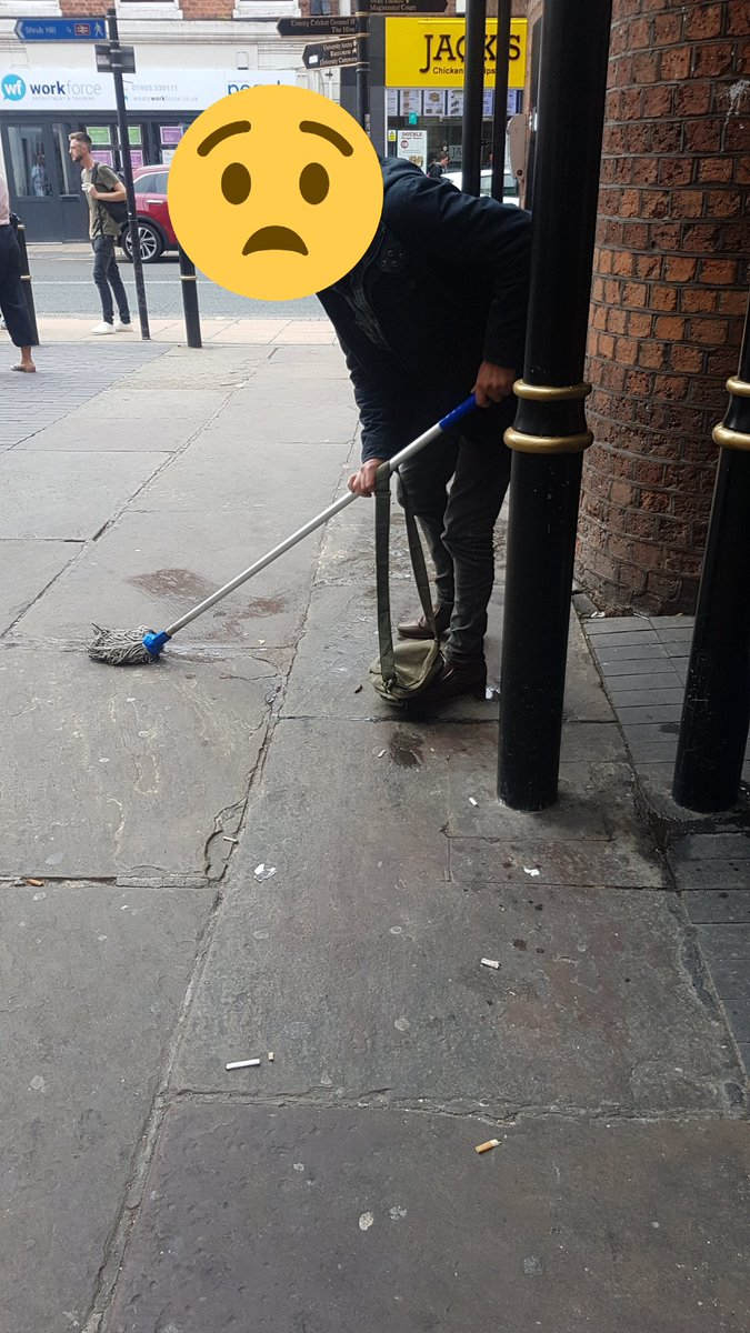 Man Caught Urinating Outside Train Station Given mop To Clean Up:  Police