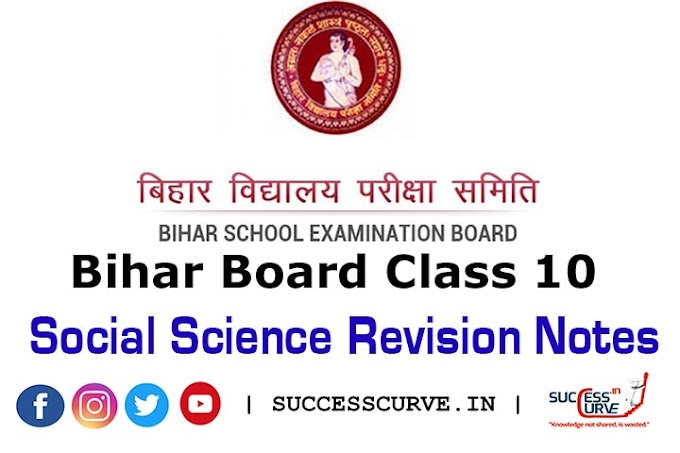 Bihar Board Class 10 Social Science Revision Notes [PDF] | Matric Exam 2021