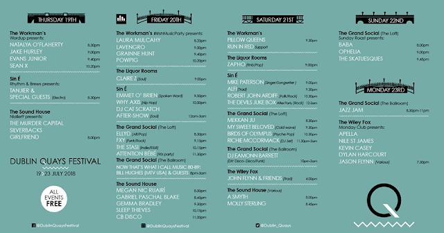 Dublin Quays Festival 2018 Line Up