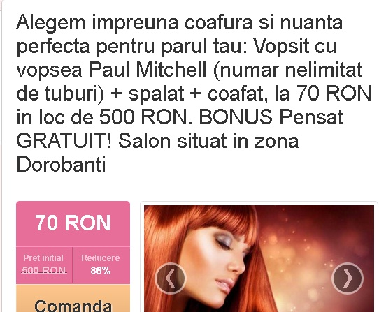 Hair Stuff  Megaofert vopsit cu Paul Mitchell splat coafat  pensat gratuit