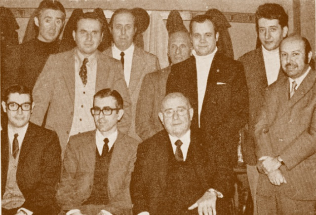 Equipo de la Unió Gracienca d'Escacs en 1973