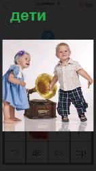 дети с грамофоном