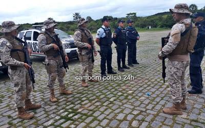 PM's de Camocim, Cotar e do Bepi vistoriam transportes coletivos na divisa Ceará/Piauí