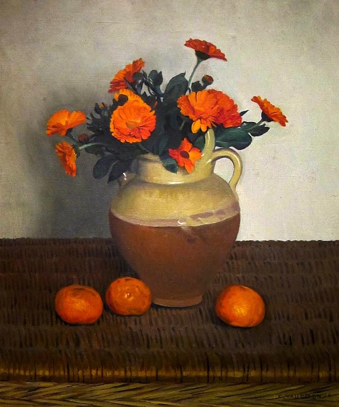 Felix Edouard Vallotton - Marigolds and Tangerines 1924