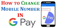 Change number Old Google pay Account