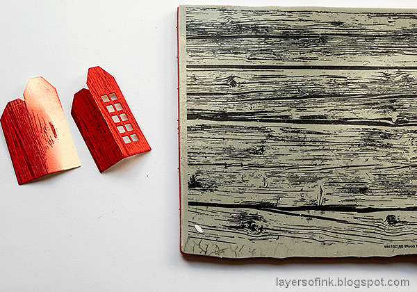 Layers of ink - Tape and House Tag Tutorial by Anna-Karin Evaldsson. Stamp with Simon Says Stamp Wood Planks background.