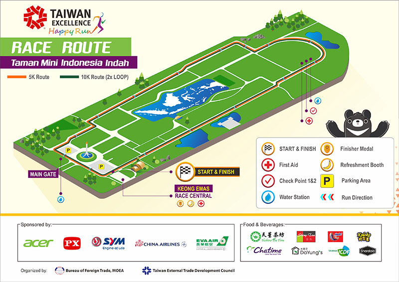 Taiwan Excellence Happy Run Route 2018