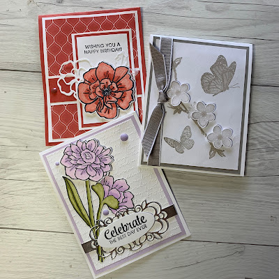 Three cards we'll make i the Coffee & Cards Class - August 19 2019