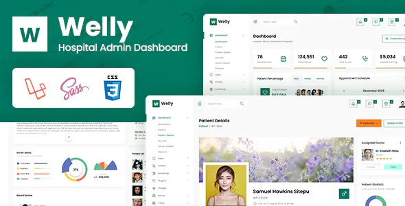 Best Hospital Admin Dashboard Laravel Bootstrap Template
