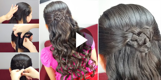 How To Create Celtic Heart Knot Hairstyle, See Tutorial