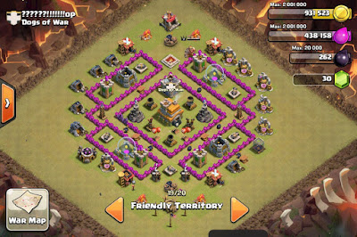 War Base TH 7 Terbaik Anti Dragon
