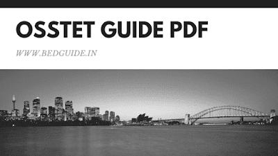 OSSTET Guide Book PDF Download
