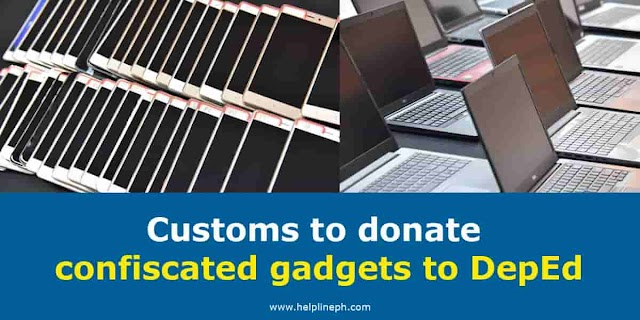Customs to donate confiscated gadgets to DepEd