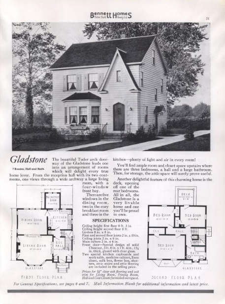 similar lines to the Sears Barrington: Bennett Homes Gladstone, offered in 1937