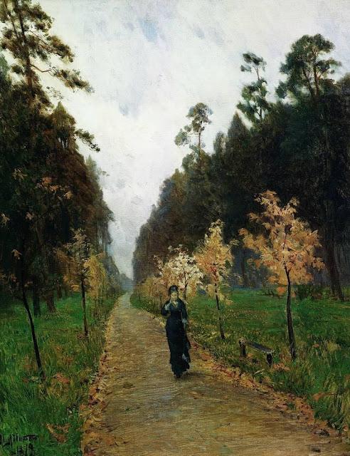 Исаак Ильич Левитан - Осенний день. Сокольники. 1879