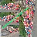 Sampah Berserakan di Tepi Jalan, DLHK Inhil Sebut Dulu Pernah Ada Tong Sampah Tapi Hilang