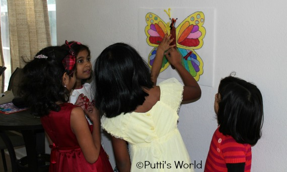Butterfly Kids Party Games Pin the antenna