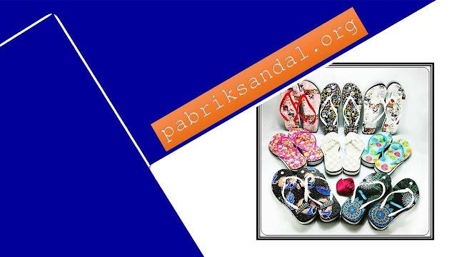 Sandal AMX Spon Tebal Motif Bunga - Pabrik Sandal Indonesia