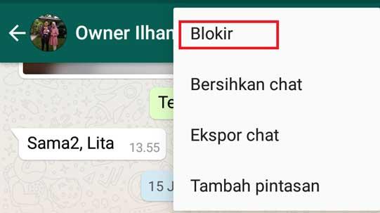 Blokir Admin Grup Wa