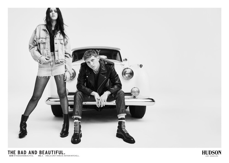 Amelia Gray Hamlin, Nathan Mitchell for Hudson Jeans Spring/Summer 2018 Campaign