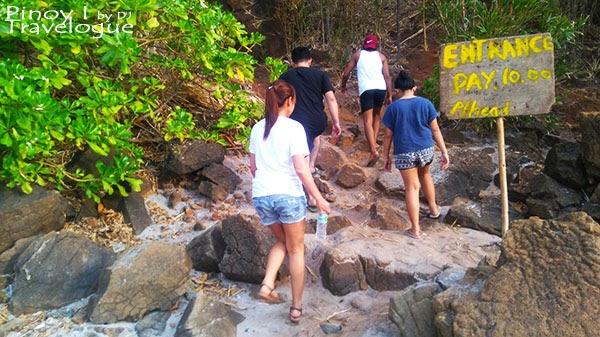 Entrance to Nagsasa Cove's hiking trail