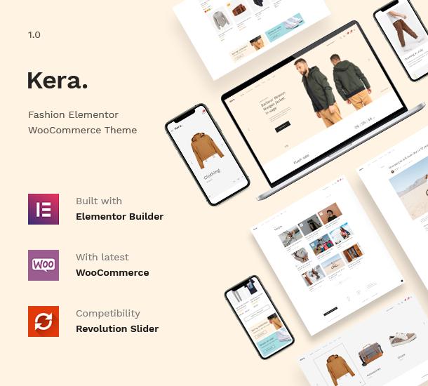 Kera Fashion Elementor WooCommerce  WordPress Theme