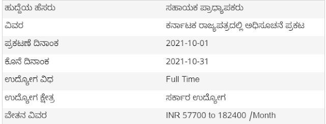 ಸ್ನಾತಕೋತ್ತರ ಪದವೀಧರರಿಗೆ ಭರ್ಜರಿ ಗುಡ್ ನ್ಯೂಸ್: 1242 ಸಹಾಯಕ ಪ್ರಾಧ್ಯಾಪಕರ ಹುದ್ದೆಗೆ ಅಧಿಸೂಚನೆ ಪ್ರಕಟ