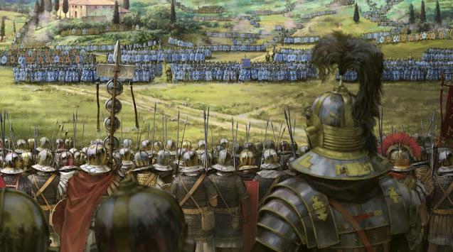 En este momento histórico el Imperio no solo debe enfrentarse a enemigos externos, sino a frecuentes guerras civiles.