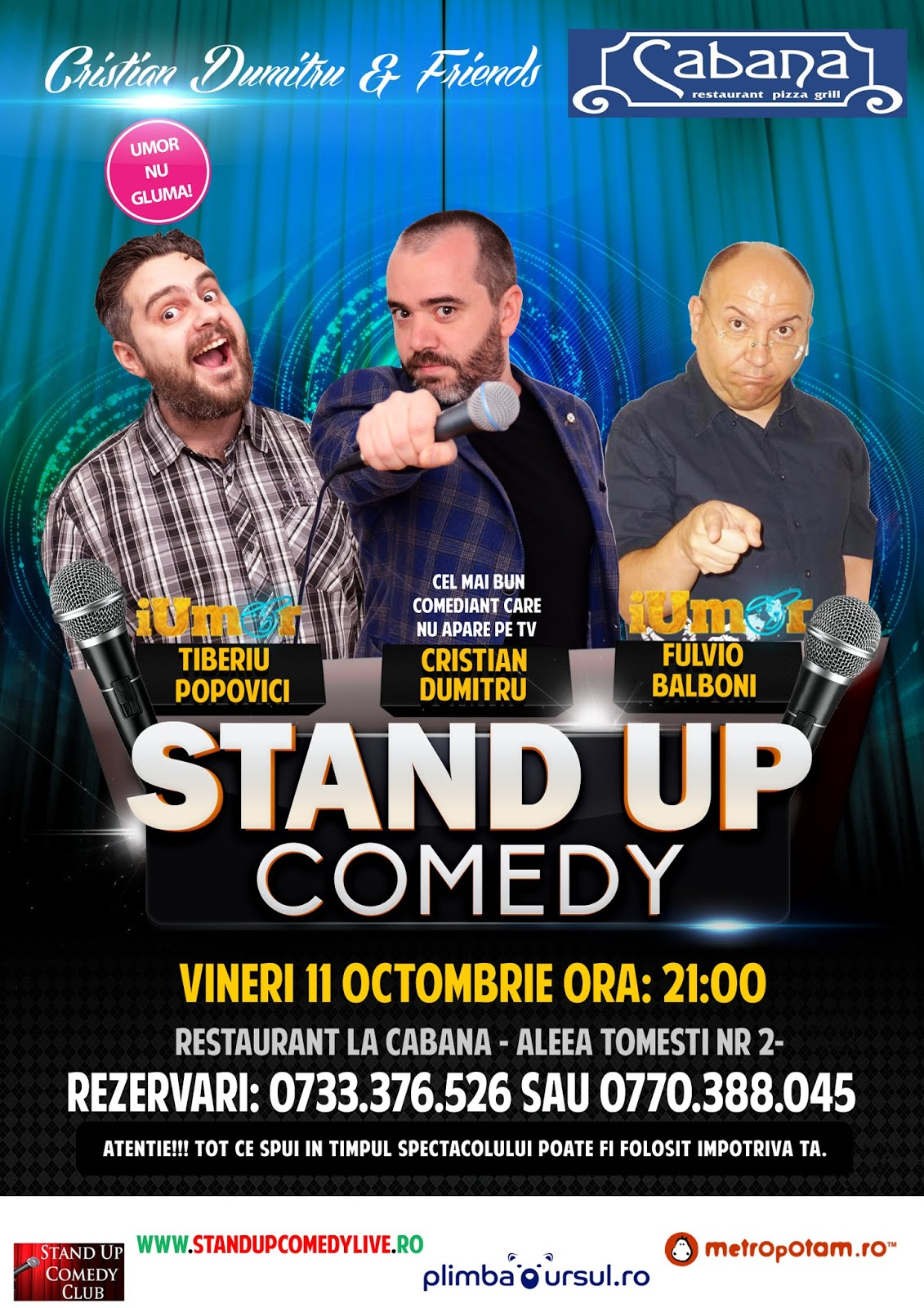 Stand-Up Comedy Bucuresti 11 Octombrie 2019