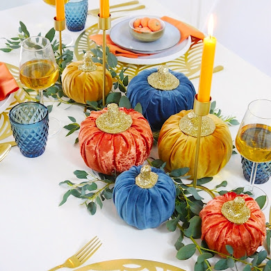 Jewel Toned Modern Thanksgiving Tablescape