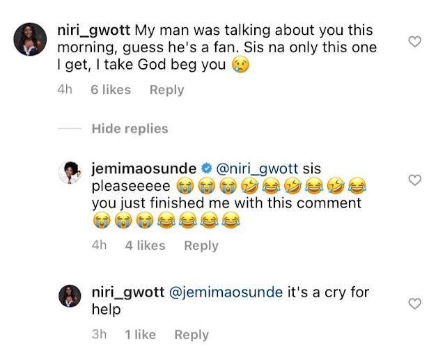 Please dont Snatch my man – Lady cries out as she begs actress, Jemima Osunde not to snatch her man
