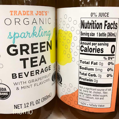 Trader Joe's Organic Sparkling Yerba Mate and Green Tea