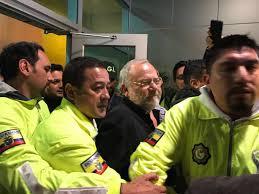 Capaya fue llevado a la cárcel de Ambato
