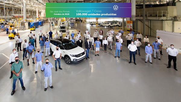 VW T-Cross atinge 100 mil unidades produzidas no Brasil