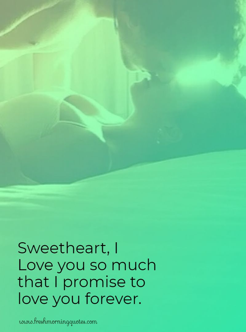 sweet heart i love you another word for promise