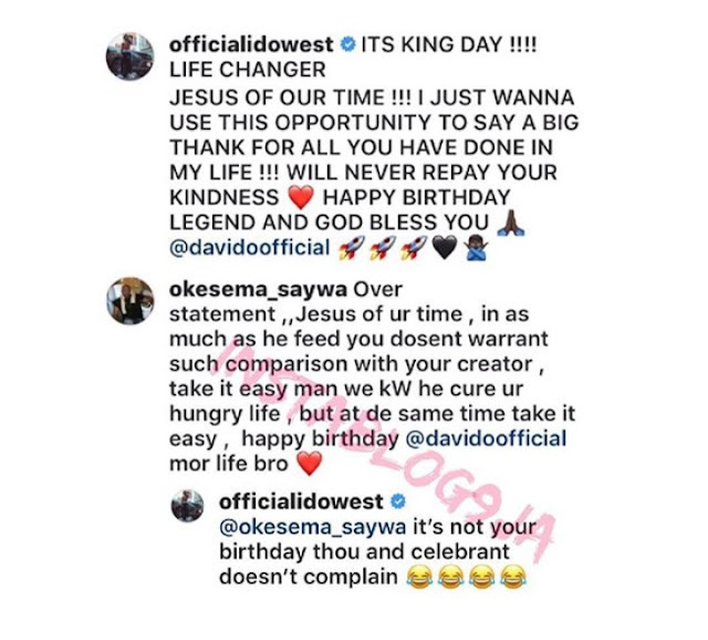 """Rapper Idowest slammed for calling Davido """"the Jesus of our time"""" as Davido's 26th birthday message"""