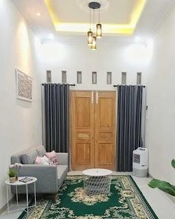 Desain ruang tamu rumah 7 x 15