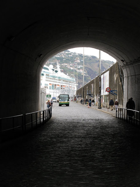 tunnel in the port of Funchal