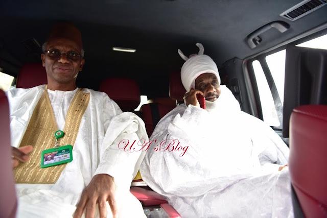 Photos Of Deposed Emir Sanusi Leaving Awe With Governor El-Rufai
