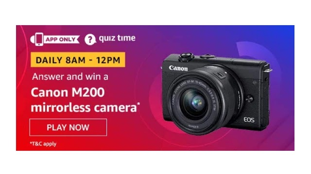 Amazon-Quiz-Answers-For-Today-26th-May-2020-Win-canon-Eos-M200-Camera
