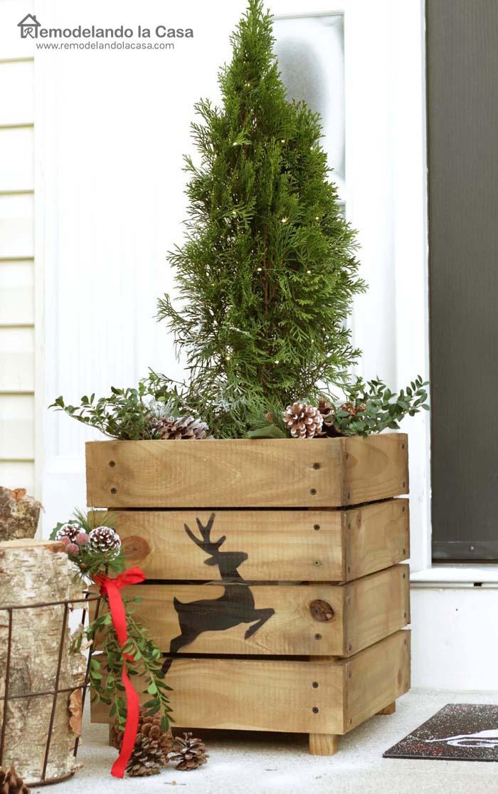 Christmas Planters Diy.Diy Wooden Planters Remodelando La Casa