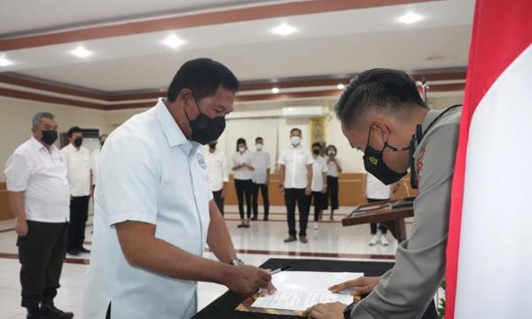Pelantikan Irjen Pol Nana Sudjana Jabat Ketum Pengprov PBVSI Sulut Masa Bakti 2020-2024