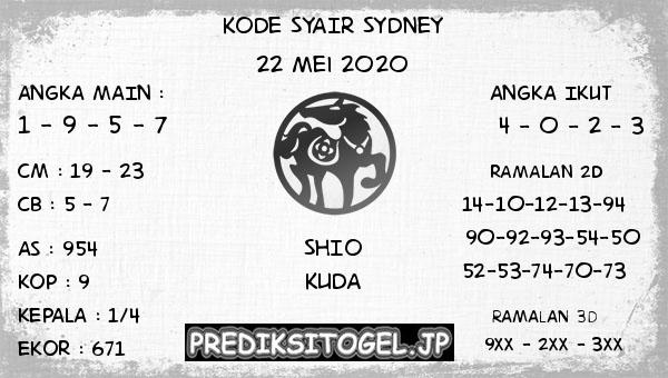 Prediksi Togel SDY Jumat 22 Mei 2020 - Kode Syair SDY