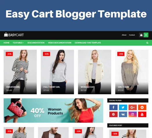 top 5 responsive ecommerce blogger template, easy cart blogger template, ecommerce responsive blogger template free download
