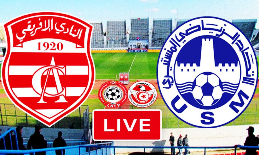 Ligue 1 Tunisie Match Club Africain vs US Monastir Live Stream