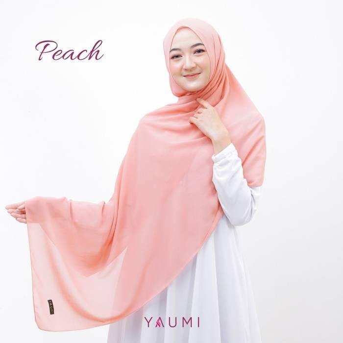 Yaumi Hijab Pashmina Peach