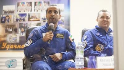 هزاع المنصوري أول رائد فضاء إماراتي نحو محطة الفضاء الدولية